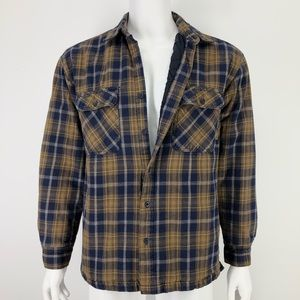 Timberland M Flannel Plaid Shirt Jacket Lined